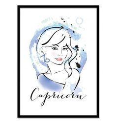 Art-Poster 50 x 70 cm - Capricorn - Martina Pavlova. Astrologic signs Designs. Art-Poster and prints published by Wall Editions.