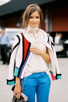 I love this girl's style! Vanessa Jackman: New York Fashion Week SS 2012...Miroslava and Vika