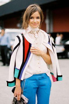 I love this girl's style! Vanessa Jackman: New York Fashion Week SS 2012...Miroslava and Vika