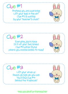 Freebie! Bunny hunt clues :)