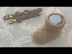 İki Şiş İle Kolay Bebek Patik Yapımı - YouTube Knitting Videos, Baby Knitting Patterns, Baby Booties, Ciabatta, Knit Crochet, Booty, Make It Yourself, Crochet Dresses, Shoes