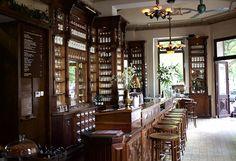 ღღ ORA-Kreuzberg.... One of these old, beautiful Pharmacies is now a Café