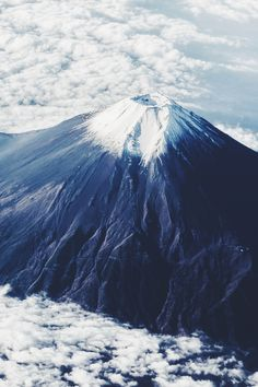 The peak of Mt. Fuji