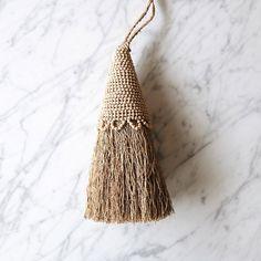 A beaded Vetiver root tassel. Modern Bohemian Decor, Boho Decor, Room Freshener, Shopping Sites, Dear Santa, Hang Tags, Wooden Beads, Scandinavian Design, Handicraft