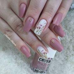 Nail Polish Art, Gel Nail Art, Acrylic Nails, Rose Nails, Flower Nails, Spring Nail Art, Spring Nails, Gorgeous Nails, Pretty Nails