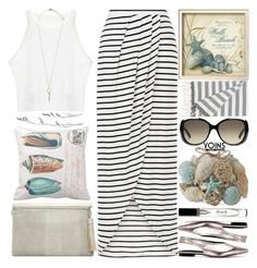 """""""Walk on the beach"""" by grozdana-v ❤ liked on Polyvore featuring Dot & Bo, Pier 1 Imports, Bobbi Brown Cosmetics, Gucci, Topshop, IGH and yoins"""