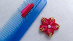 This video about Hand Embroidery Amazing Trick Easy Flower Embroidery Trick with Hair Comb