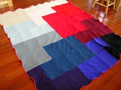 wool blanket made from felted sweaters diy