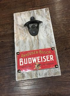 A personal favorite from my Etsy shop https://www.etsy.com/listing/290746227/budweiser-vintage-style-wall-mounted
