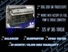 Bp38313ctc1 is a 383 stroker that features our blueprint aluminum if your vortec powered gm truck or suv is getting tired or just needs more horsepower blueprint engines has a 383 just for your truck malvernweather Gallery