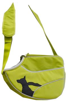 Cute carrier purse for a small dog or cat.