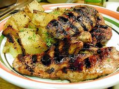 Image for Delicious Glazed Chicken With Potatoes Chicken Steak, Glazed Chicken, Chicken Potatoes, Grilled Chicken, Paleo Food List, Paleo Meal Prep, Healthy Food, Yummy Food, Lunch Recipes