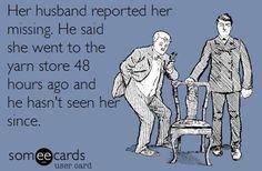 Su marido informó de su desaparición. Dijo que había ido a una tienda de lanas 48 horas antes y que no la había visto desde entonces. / https://www.facebook.com/photo.php?fbid=10152442492215099&set=a.434918795098.366049.29879550098&type=1&ref=nf