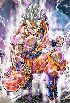 Gohan UI Broly Ssj4, Majin, Super Goku, Chibi, Dbz Characters, Dragon Images, Image Manga, Anime Artwork, Animes Wallpapers