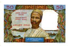 Madagascar … P 61 … 50 Francs … ND 1969 … UNC   eBay