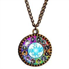 Homestuck Necklace God Mandala Jewelry Gift Chain Art Jewelry Tavros Pendant Cute