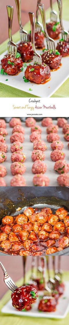 Crockpot Sweet and Tangy Asian Meatballs double recipe = 25 people, delicious appy! Tapas, Slow Cooker Recipes, Crockpot Recipes, Cooking Recipes, Fingers Food, Asian Meatballs, Pork Meatballs, Crock Pot Cooking, Mets