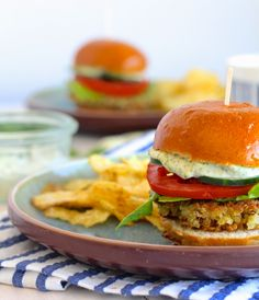 Quinoa Sliders with Green Goddess Aioli
