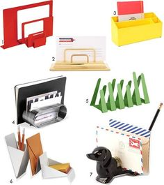 Organization Must Have: The Mail Organizer - can also use vintage toast rack