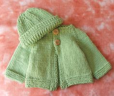 Cute Green Baby Boy Sweater and Hat