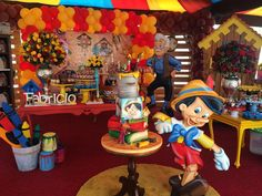 "Festejos Cocodrilandia Park on Instagram: ""Decoración Pinocho - Pinocchio by @esmeraldapena"" 3rd Birthday Parties, Boy Birthday, Luigi, Soccer Party, Baby Shower, Holidays And Events, Party Themes, Birthdays, Fun"
