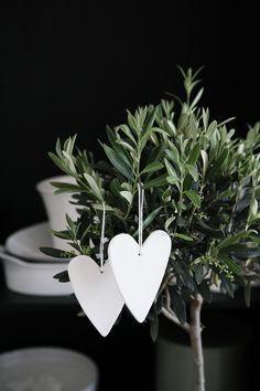 white hearts