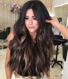 13 Gorgeous Fall Hair Colors to Try : The Best Hair Color Trends for Fall To get one thing completely different as hair color rather the, as usual, boring hair color concepts, these are the most effective assist for you. thus arrange for applying the rath Fall Balayage, Brown Hair Balayage, Hair Color Balayage, Dark Brunette Balayage Hair, Long Brunette Hair, Auburn Balayage, Brunette Ombre, Brunette Balayge, Dark Hair Balyage