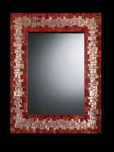 red and copper mirror Mirror Mosaic, Mosaic Diy, Mosaic Crafts, Mosaic Projects, Mirror Art, Mosaic Glass, Mosaic Tiles, Mosaic Garden, Mosaic Pictures