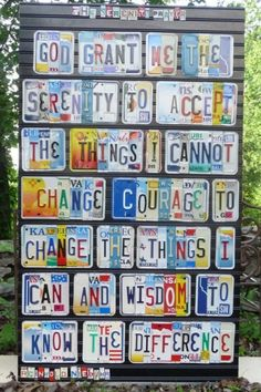 God grant me the serenity to accept the things I cannot change, courage to change the things I can, and wisdom to know the difference. Graffiti, License Plate Art, Courage To Change, Serenity Prayer, Favorite Quotes, My Favorite Things, Think, Just Dream, After Life