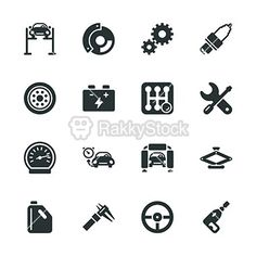 Auto Service Silhouette Icons  http://www.rakkystock.com/icon/icons_detail/87