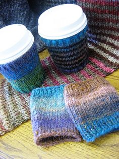 Coffee Cozy by craftydiva, via Flickr (my design, pattern available on Ravelry http://www.ravelry.com/projects/Craftydiva/addicted-to-caffeine-coffee-cup-cozy)