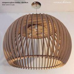 lámpara de techo moderna esfera 60x38cm mdf 3mm diseño