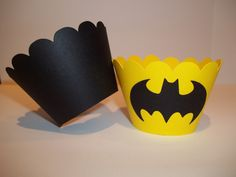Batman Cupcake Wrappers by MonarchPaperCreation on Etsy, $6.00
