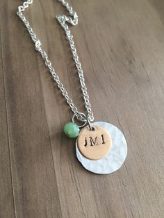 Initial Necklace, monogram jewelry, bridesmaid gift, gifts for her, valentines day, anniversary gift, personalized jewelry by JustStampItGifts on Etsy https://www.etsy.com/listing/264540848/initial-necklace-monogram-jewelry