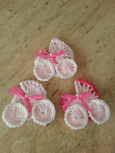 crochet baby shower carriage favor more