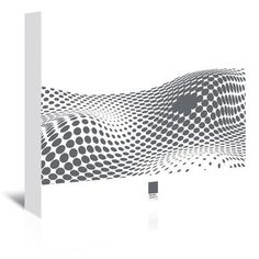 Americanflat Grey Ovals on White 2 by Armand Graphic Art on Wrapped Canvas Size:
