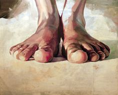 Foots thinking / Acrilic on canvas / 100 x 80cm / 2010. Christian Blanxer