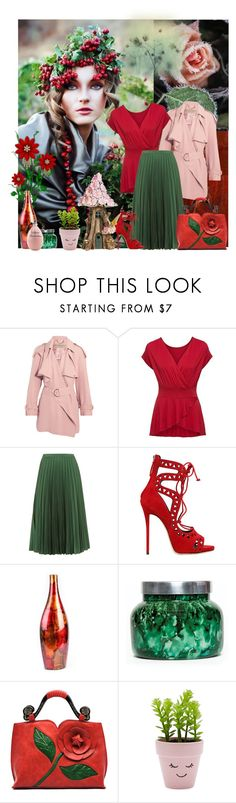"""""""Untitled #2691"""" by neverorever ❤ liked on Polyvore featuring Burberry, Topshop, Giuseppe Zanotti, Capri Blue, New Look, Agent Provocateur and Top Collection"""