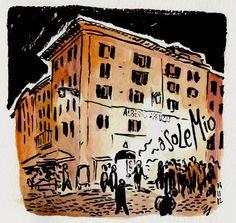 [ #DRAWING ] Italian cliché - Piazza della Rotonda, #Rome http://lscrnts.fr/oOoSoleMio #art #travel