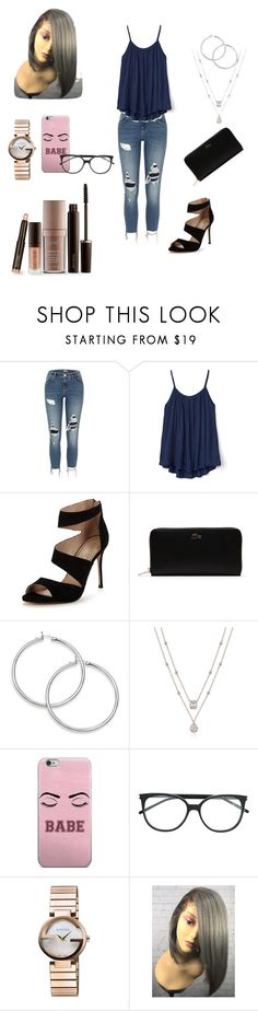 """""""Untitled #164"""" by eliza-heffly ❤ liked on Polyvore featuring River Island, Gap, Carvela, Lacoste, Yves Saint Laurent, Gucci and Laura Mercier"""