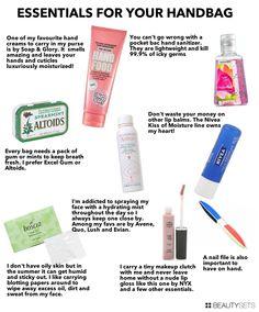 Essentials for your Handbag