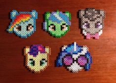 My Little Pony Inspired Characters perler beads by EBPerler