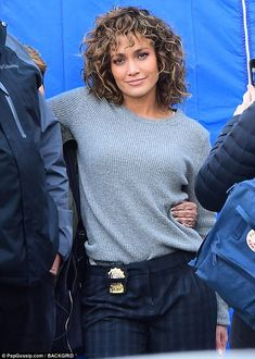 Beaming:Jennifer Lopez invited her mom to the set of her TV series Shades Of Blue - with no A-Rod in sight