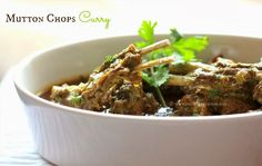 Ruchik Randhap (Delicious Cooking): Mutton Chops Curry - When the hubby cooks! Lamb Recipes, Veg Recipes, Curry Recipes, Indian Food Recipes, Chicken Recipes, Cooking Recipes, Prawn Curry, Lamb Curry, Gourmet