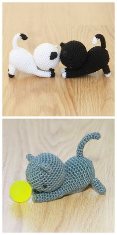 Free Playing Cat Amigurumi Crochet Pattern Do you need a quick present for you cat-friend? Or are you more of a cat-person yourself? This … – Amigurumi Model listing Amigurumi Giraffe, Doll Amigurumi Free Pattern, Pokemon Crochet Pattern, Crochet Elephant, Crochet Animal Patterns, Octopus Crochet Pattern Free, Crochet Easter, Chat Crochet, Crochet Teddy