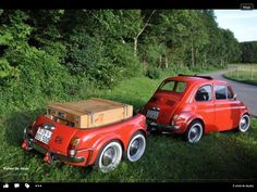 Fiat 500 with matching trailer