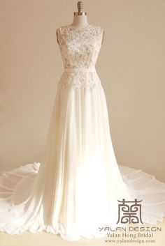 Illusion Lace Wedding Dress |www.yalandesign.com|Made to order wedding gowns, bridesmaid dresses,prom dresses and evening gowns #wedding #weddingdress #weddingdresses #weddinggown #beautifulgown