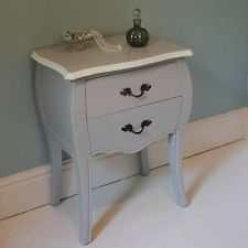 french grey bedroom bedside table shabby vintage chic home furniture