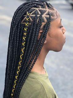 Braided Hairstyles For Black Women Cornrows, Box Braids Hairstyles For Black Women, Braided Hairstyles Tutorials, Braids For Short Hair, African Hairstyles, Braid Hairstyles, Anime Hairstyles, Hairstyles Videos, Hairstyle Short