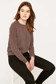Urban Outfitters '70s Geo Jacquard Sweatshirt
